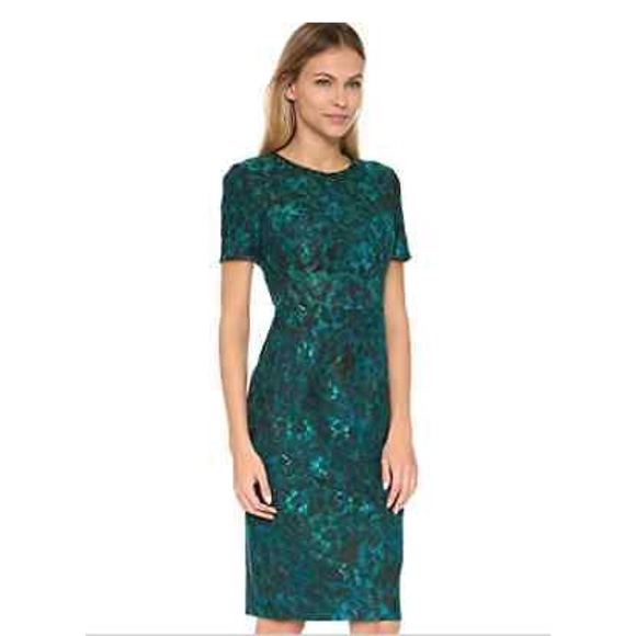 41de5b61 Black Halo Dresses & Skirts - Black Halo Bailey teal floral sheath dress.